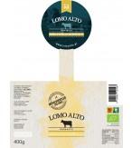 Etikette Mühlviertler Bierfleisch im Glas 400g Lomo Alto Biologisch